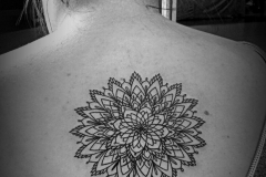 angelika gross tattoo Mandala fineline