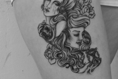 angelika gross tattoo black and grey traditional