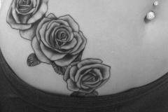 angelika gross tattoo black&grey roses