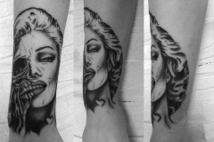 angelika gross tattoo scull Marilyn Monroe
